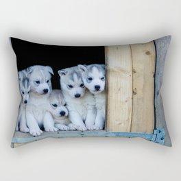 Husky puppies Rectangular Pillow