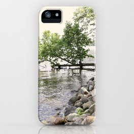 Hanging Tree from the Lakeshore iPhone Case