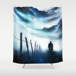 The Abyss A star time traveler Shower Curtain