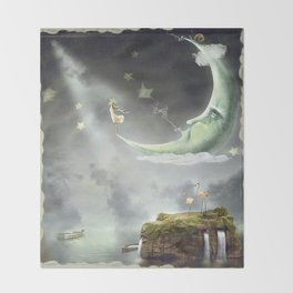 Night. Time of miracles and magic Throw Blanket