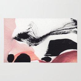 Blush Abstract Art Rug