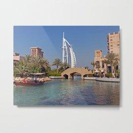 Burj Al Arab Hotel Metal Print