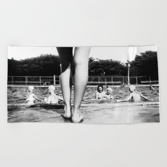 A Day At The Pool Beach Towel