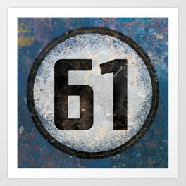 Vintage Auto Racing Number 61 Art Print