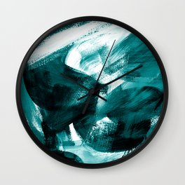 Abstract Artwork Petrol #1 Wall Clock