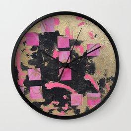 glam pink Wall Clock