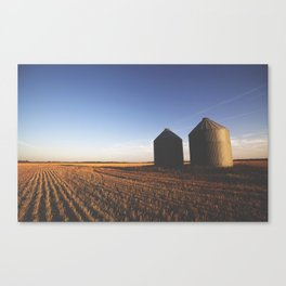 Grain Silo Sunset Canvas Print