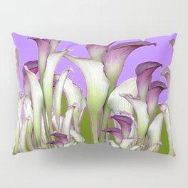 ART NOUVEAU PURPLE CALLA LILIES & BUTTERFLY FLOWERS ART Pillow Sham