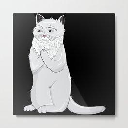 Cat Confucius Catfucius Metal Print