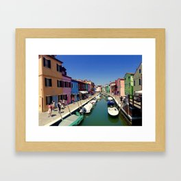 Rainbow Venice Framed Art Print