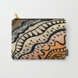 From copper to bronze tangled Carry-All Pouch