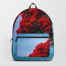 Red Blossoms, Shelter Harbor, Rhode Island Backpack