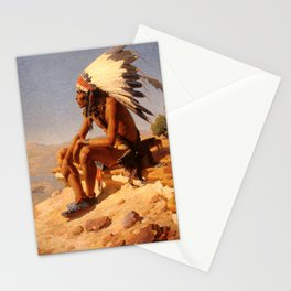 """Western Art """"Lord of His Domain"""" Stationery Cards"""