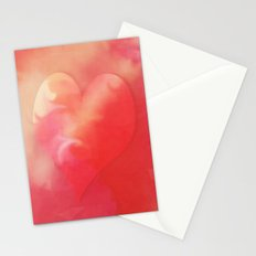 Heart pink smoothie Stationery Cards