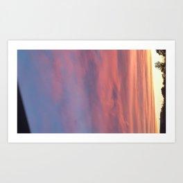 Watercolor Candy Skies Art Print