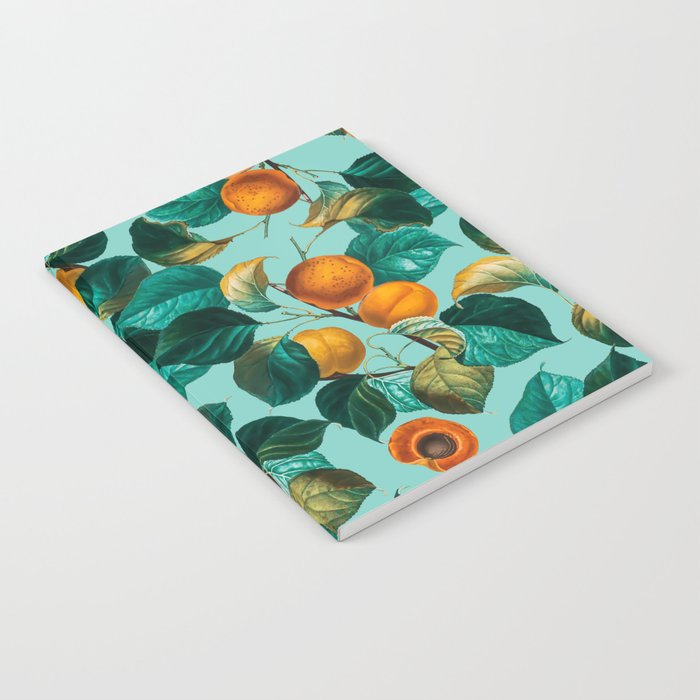 Peach and Leaf Pattern Notebook