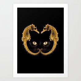 Cat Fish Art Print
