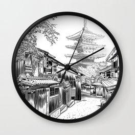 Sketch Street Japan Wall Clock