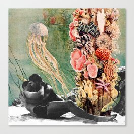 First Kiss Underwater Canvas Print