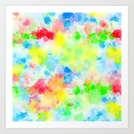 Watercolor Splashes Art Print