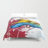 forever young Duvet Covers featuring FOREVER YOUNG by Don Kuing