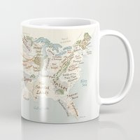 patriots Mugs featuring Fantasy Football Map by GrimmLyon