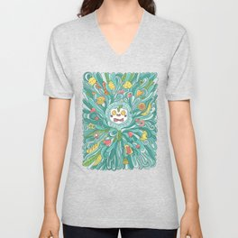 Crazy Breakfast Unisex V-Neck