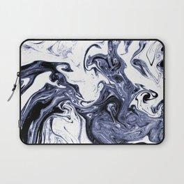 Marble Suminagashi watercolor pattern art pisces water wave ocean minimal design Laptop Sleeve