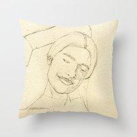 valentina Throw Pillows featuring Valentina by HermanasOso
