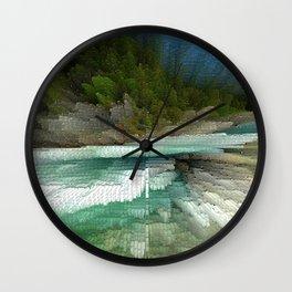 Abstract Landsape Wall Clock