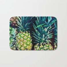 Pineapples in Colorful Bunch Bath Mat