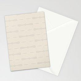 Art deco pattern - light cream - neutral Stationery Cards