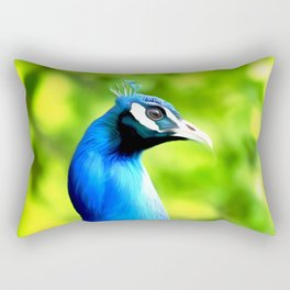 Peacock Art One Rectangular Pillow