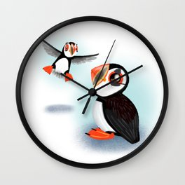 Atlantic Puffin (Canavians Series) Wall Clock