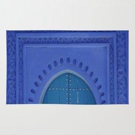 Islamic Architecture Blue Turquoise Secret Doorway Beautiful Engravings Rug