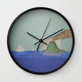 Volcano Meets Iceberg Wall Clock