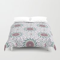 wallpaper Duvet Covers featuring Wallpaper  by Truly Juel