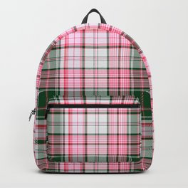 in pink plaid Backpack