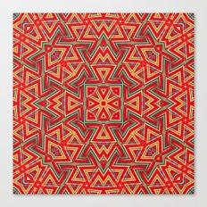 Aztec Sunshine Pattern Canvas Print