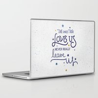dumbledore Laptop & iPad Skins featuring Never leave us by Earthlightened