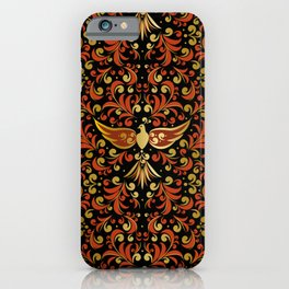 Golden bird phoenix iPhone Case