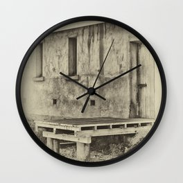 Antique plate style old loading dock Wall Clock