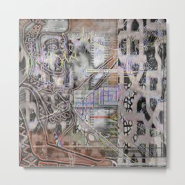 Fractured Whimsy Metal Print