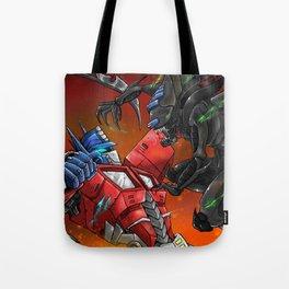 Prime vs The Queen Tote Bag