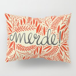 Pardon My French – Red on Cream Pillow Sham