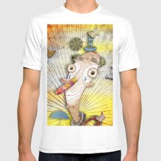 Clown White Mens Fitted Tee SMALL