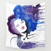 rush Wall Tapestries featuring Beauty Rush by Lindsey Kate