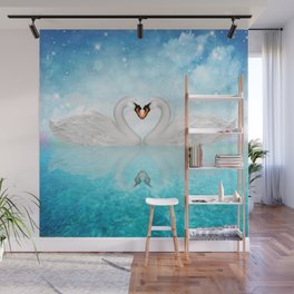 Heart of Swans #10 Wall Mural