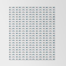 Blue and White Lambretta Pattern Throw Blanket