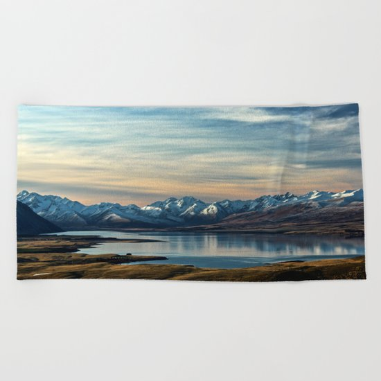 Over The Mountains Beach Towel